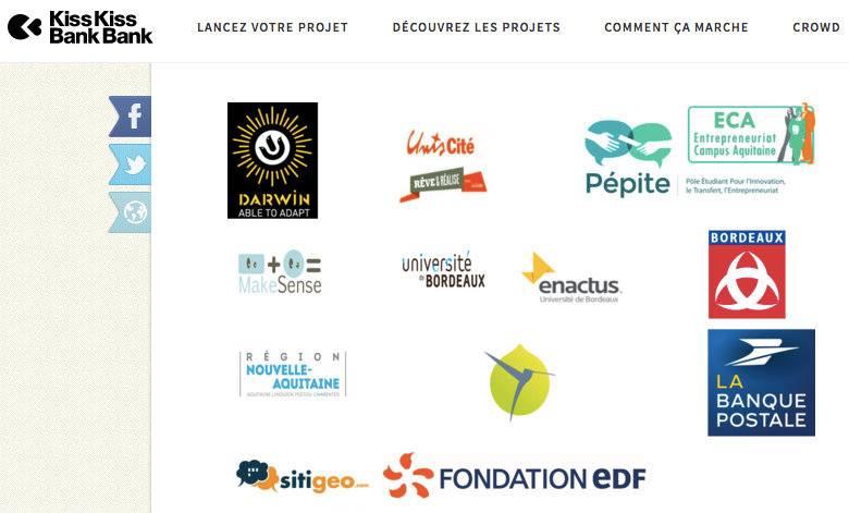Logos partenaires crowdfunding citiZchool sitigeo UnisCite Darwin