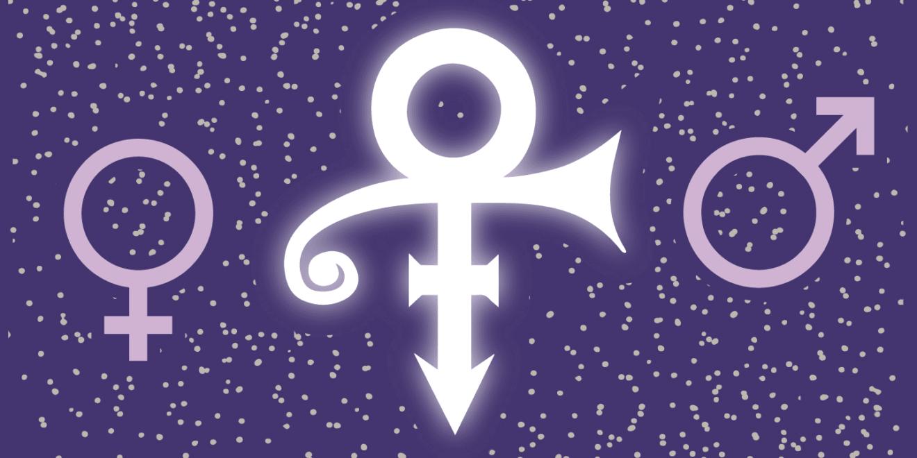 Le love symbol de Prince, androgyne mi homme-mi femme