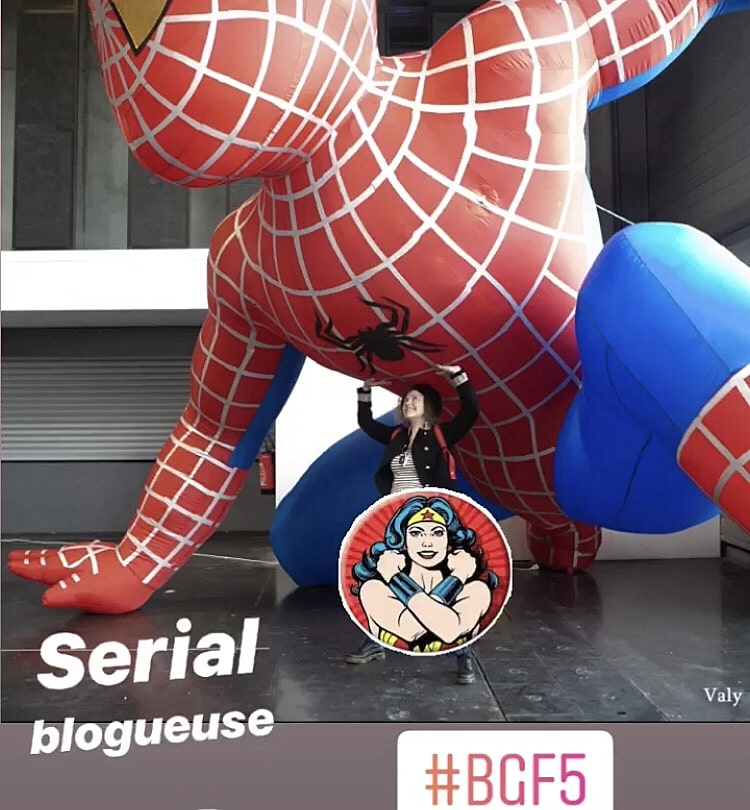 Wonder blogueuse VS Spiderman